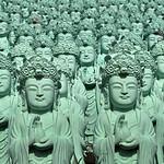 Many, Many Statues of the Goddess Gwanseum-Bosal